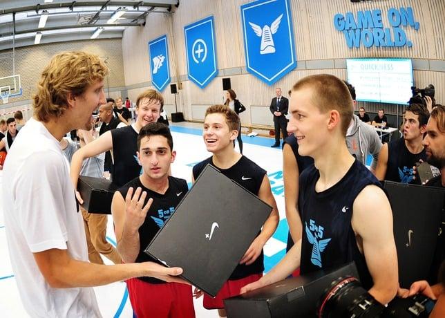 best service 05bd6 24b72 Dirk Nowitzki Joins Nike+ Basketball Berlin 5-on-5