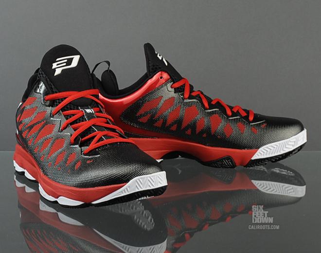 free shipping efbc4 a3d7b Jordan CP3.VI  Black White-Gym Red  ...
