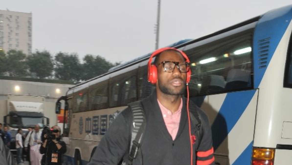 LeBron Arrives for Beijing Game in the LeBron ST Low