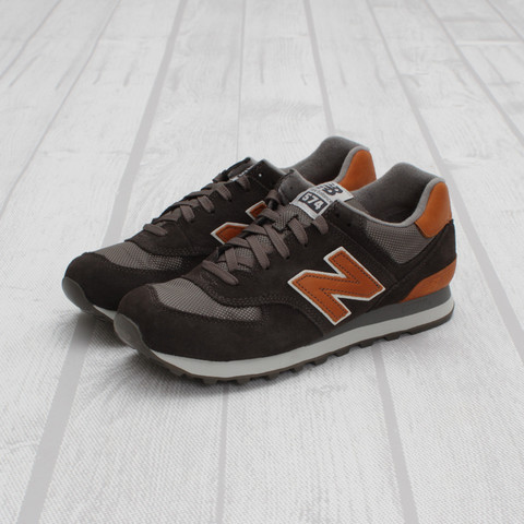 new balance 574 brown orange