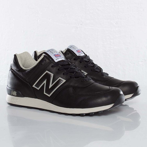 New Balance 576 Black Leather