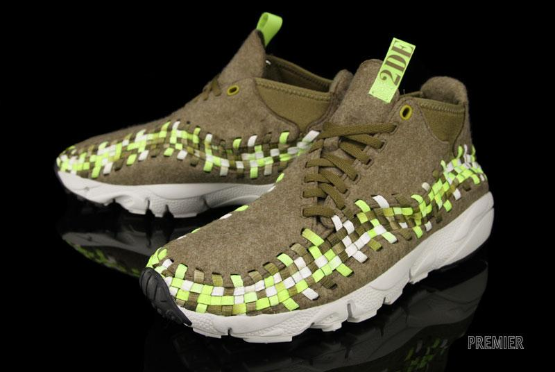 Nike Air Footscape Woven Chukka 'Raw Umber/Volt-Tent-Light Bone'