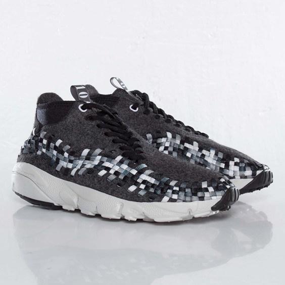 Nike Air Footscape Woven Chukka Wool 'Black/Medium Grey-Midnight Fog-Light Bone'