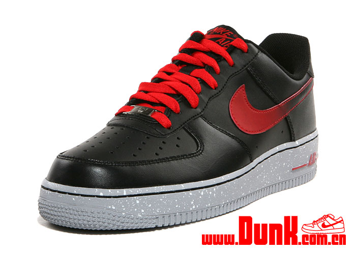 Nike Air Force 1 Low 'Black/Challenge Red'