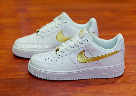 Nike Air Force White Gold