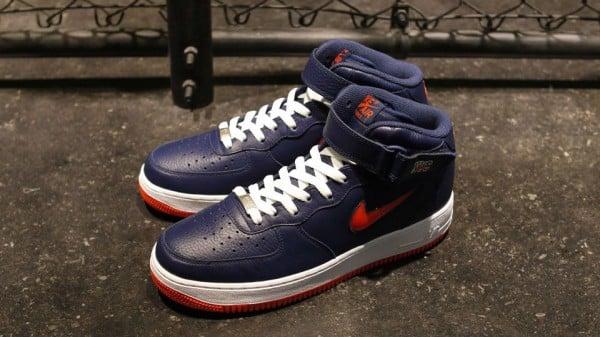 Nike Air Force 1 Mid Jewel NYC 'Midnight Navy/Team Orange' - Release Date + Info
