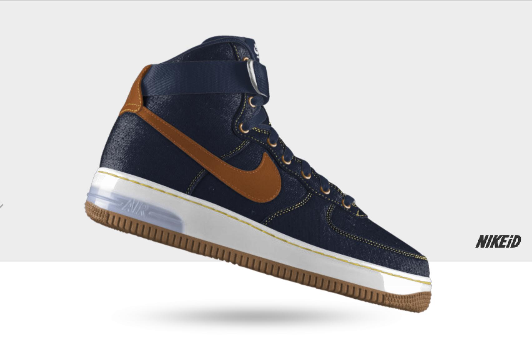 Nike Air Force 1 iD Denim and Goat