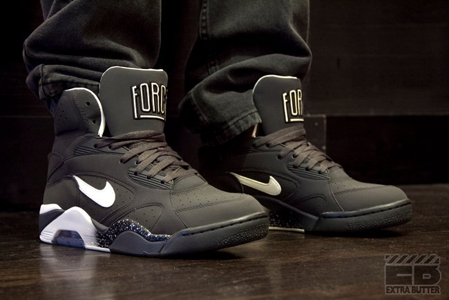 Nike Air Force 180 High Halloween 'Anthracite/Vibrant Yellow' at Extra Butter