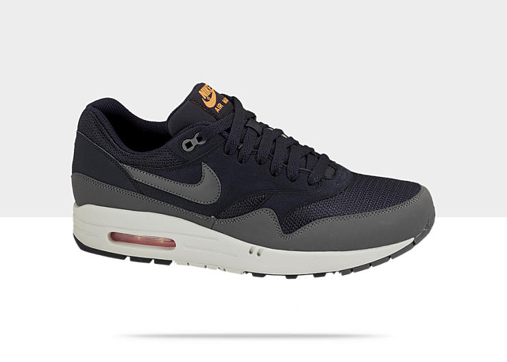 Nike Air Max 1 'Dark Obsidian/Dark Grey-Light Bone-Total Orange'