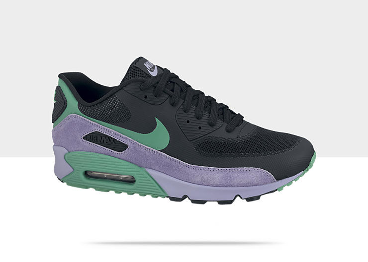 Nike Air Max 90 Hyperfuse 'Black/Stadium Green-Medium Violet' at NikeStore