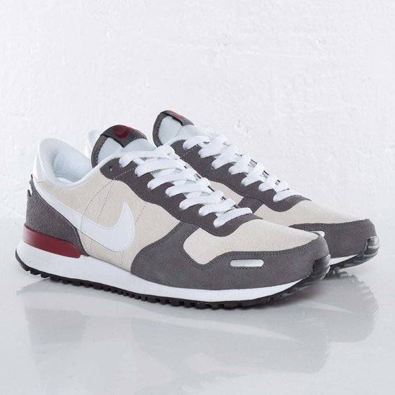 Nike Air Vortex Leather 'Pure Platinum/Dark Grey-Team Red'