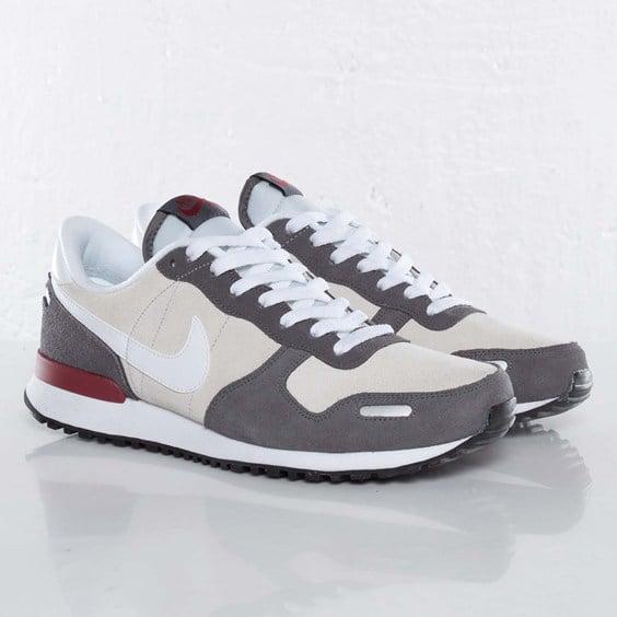 Nike Air Vortex Leather 'Pure Platinum/Dark Grey-Team Red'