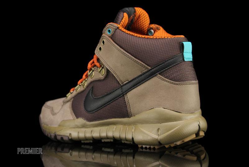 Nike Dunk High OMS 'Brown/Black-Dark Khaki-New Green'