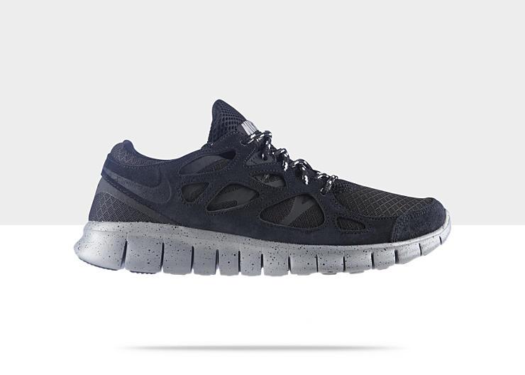 Nike Free Run+ 2 'Black/Black-Metallic Silver' at NikeStore