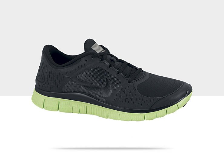 Nike Free Run+ 3 Shield 'Black/Dark Grey-Electric Green'