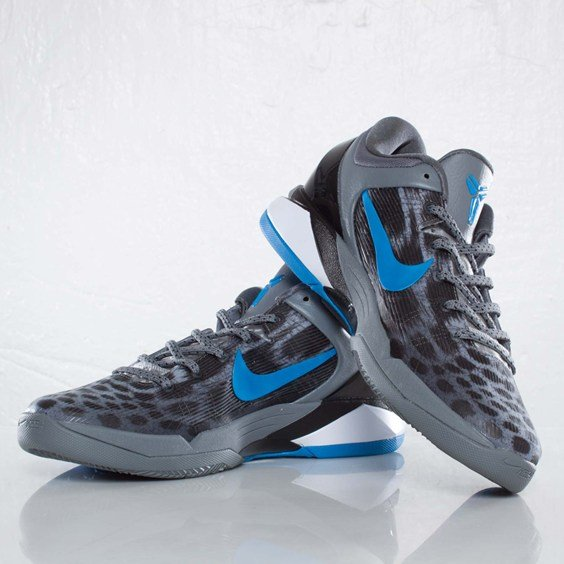 Nike Kobe VII (7) Cheetah 'Wolf Grey/Photo Blue-Black-Cool Grey' at SNS