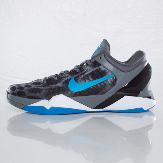 Nike Kobe VII (7) Cheetah 'Wolf Grey/Photo Blue-Black-Cool Grey' at SNS
