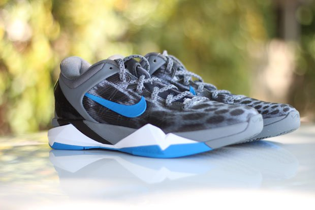 Nike Kobe VII (7) Cheetah 'Wolf Grey/Photo Blue-Black-Cool Grey' at ...