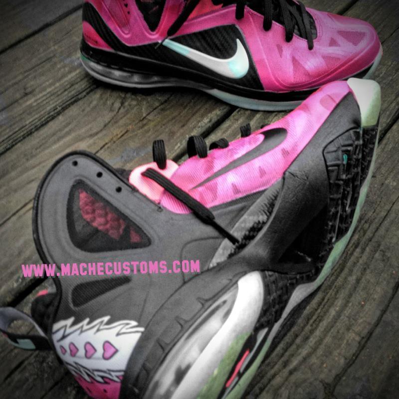 Nike LeBron 9 P.S. Elite 'Bret the Hitman Hart' by Mache Custom Kicks