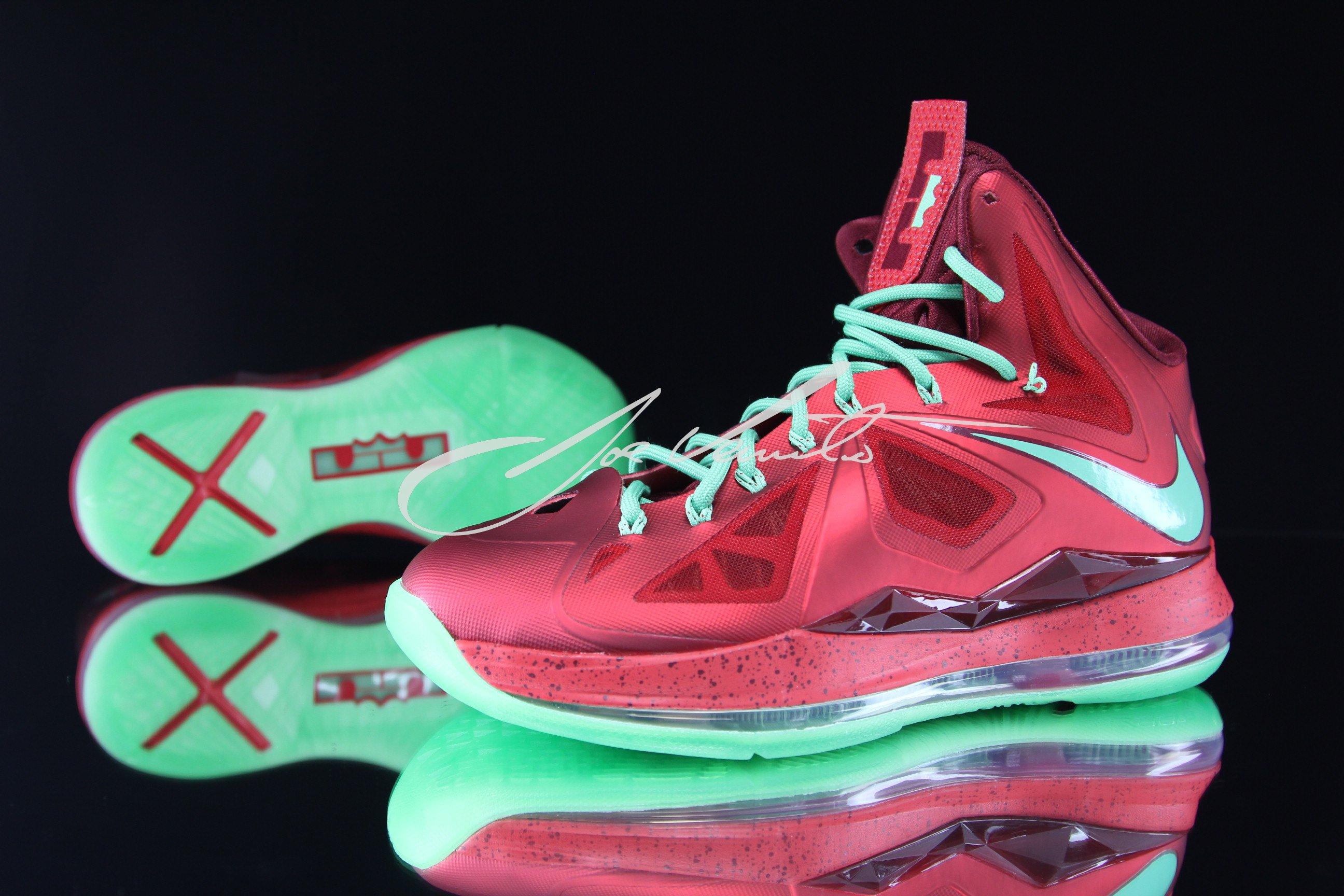 Lebron Christmas 10.Nike Lebron X 10 Christmas Sneakerfiles