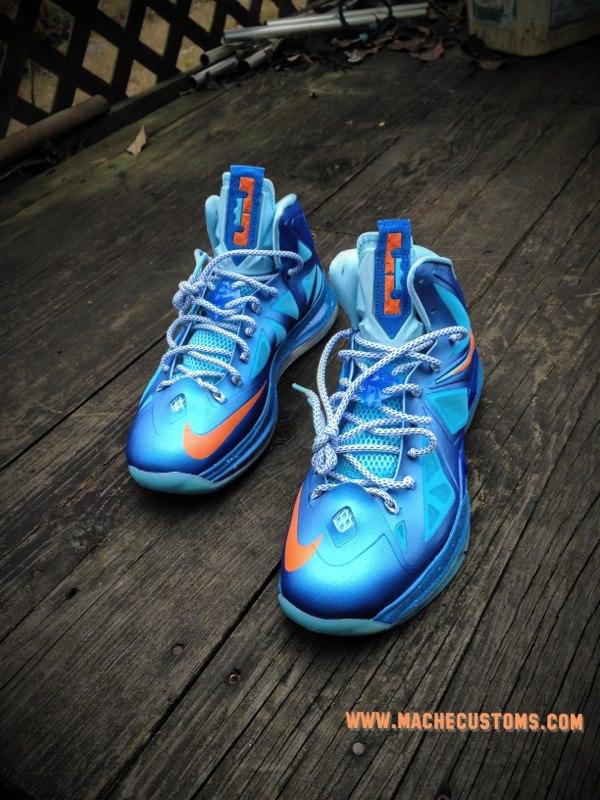 Nike LeBron X 'China' by Mache Custom Kicks