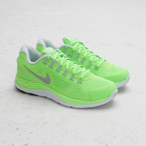Nike Lunarglide+ 4 Electric Green Silver