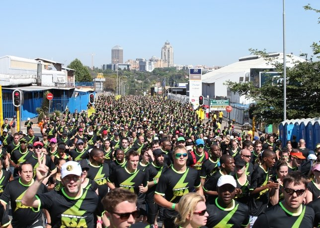 Runner's of Nike's We Run Jozi 10k Connect Streets Between Sandton and Alexandra