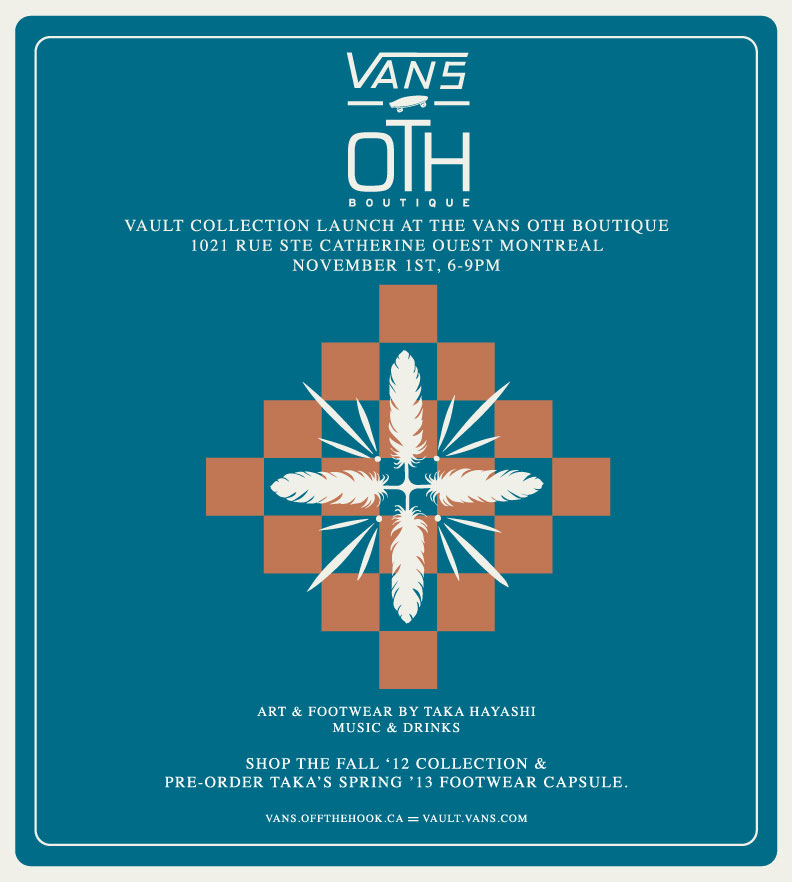 Taka Hayashi x Vans Vault Trunk Show at OTH Shop in Montreal