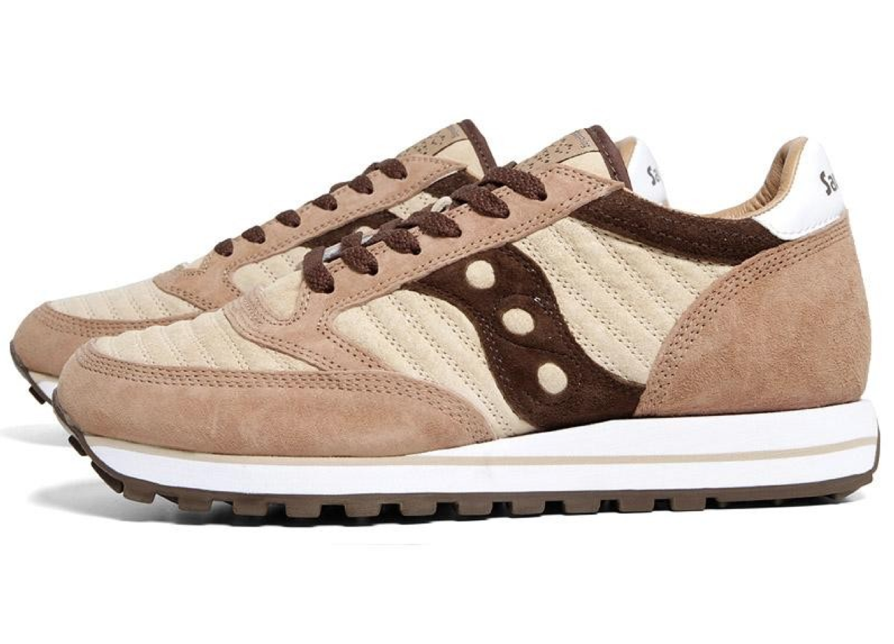 White Mountaineering x Saucony Jazz Original 'Dark Brown/Beige'