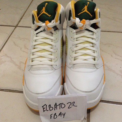 new concept 5f4fc 82df1 air-jordan-5-ray-allen-seattle-supersonics-home-
