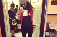 Celebrity Sneaker Watch: Teyana Taylor in Air Jordan IX 'Johnny Kilroy'