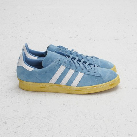 the latest db725 eea36 mita x adidas Originals Campus 80s College BlueRun White