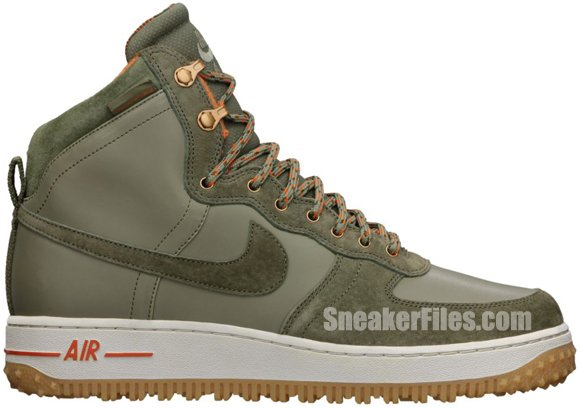 Nike Air Force 1 High Deconstructed Military Boot Silver Sage Medium Olive Official Images Sneakerfiles