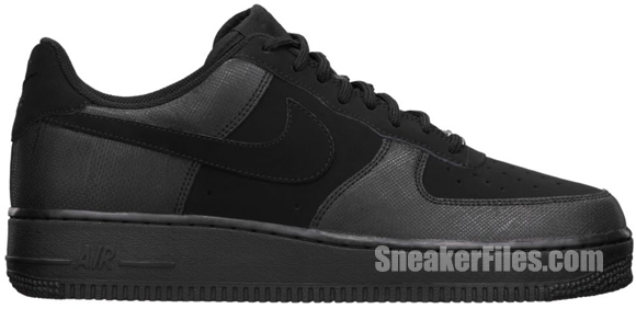 Nike Air Force 1 Low TecTuff 'Black' - Official Images