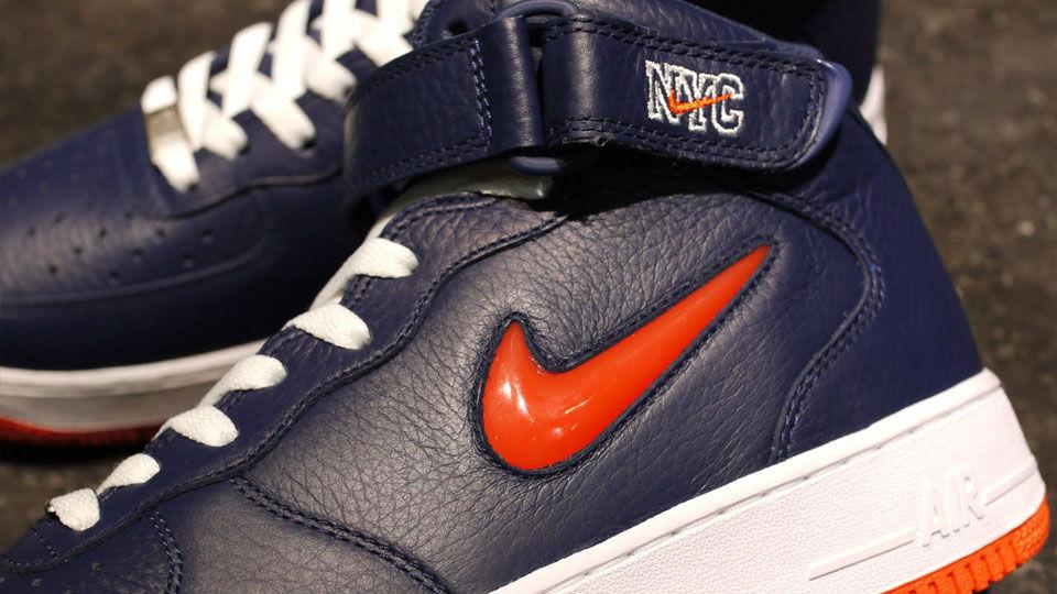 Nike Air Force 1 Mid Jewel 'Navy/Orange