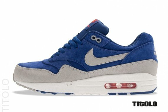 Nike Air Max 1 Premium 'Deep Royal BlueGranite Sail Team