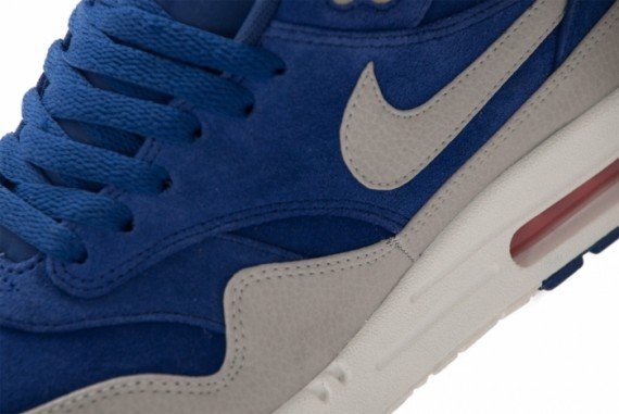 52348dce21a5cd Nike Air Max 1 Premium  Deep Royal Blue Granite-Sail-Team Orange ...