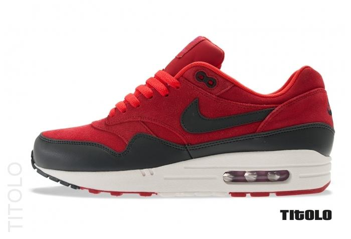 finest selection 871e7 310b1 nike-air-max-1-premium-gym-red-anthracite-