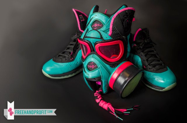 9f8cf5e266dd Nike LeBron 8  South Beach  Gas Mask by Freehand Profit