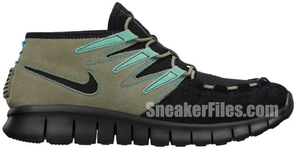 Nike Womens Free Forward Moc+ N7 Black/Black-Steel Green-Calypso-Gym Red-Dark Turquoise