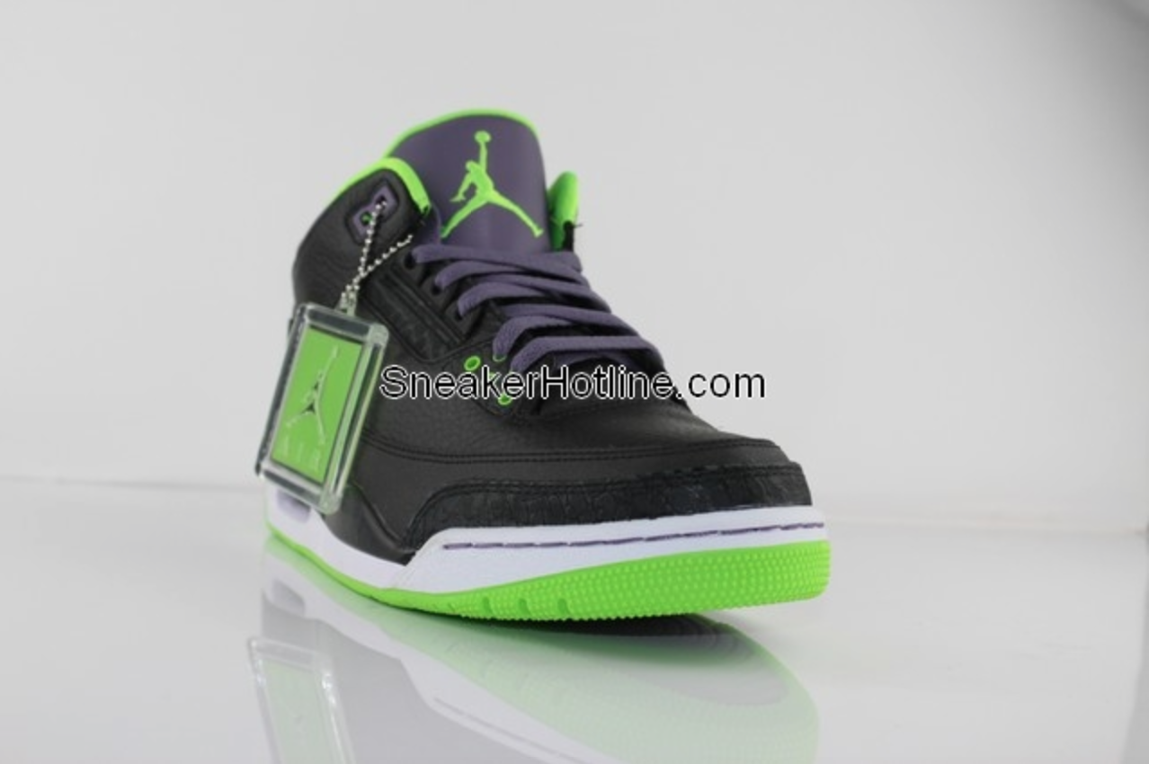 jordan 3 black green