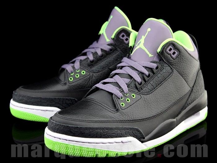 Air Jordan III (3) 'Black/Green-Purple' | SneakerFiles