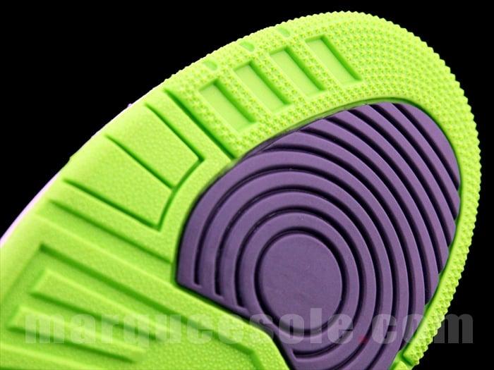 Air Jordan III (3) 'Black/Green-Purple'