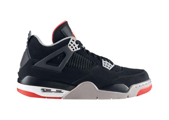 Air Jordan IV (4) 'Black/Cement' - Official Release Info