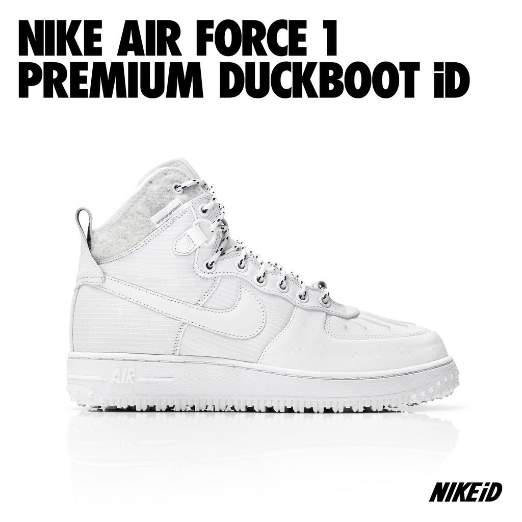 Release Reminder: Nike Air Force 1 Premium Duckboot iD