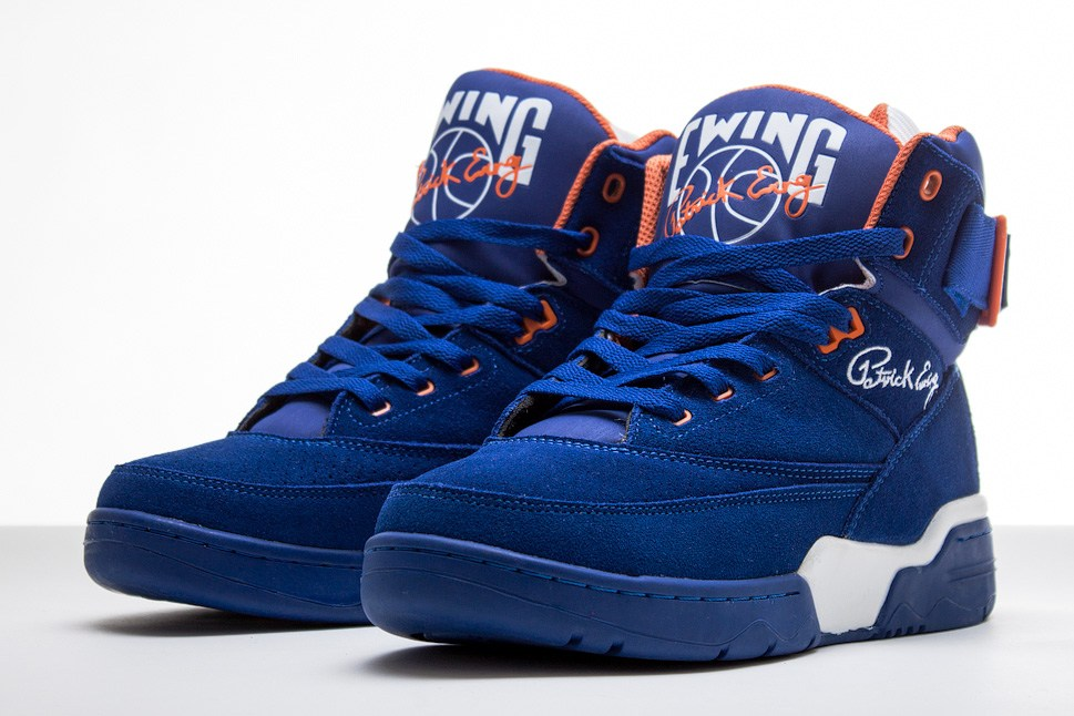 Ewing 33 Hi 'Blue Suede' at Sneakersnstuff