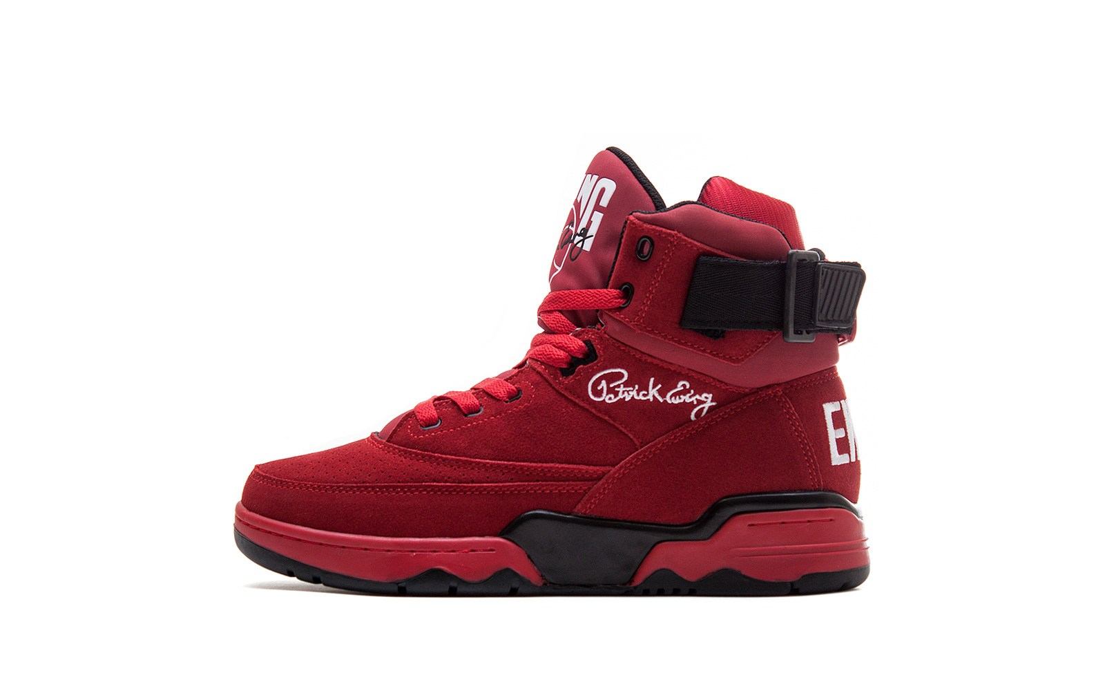 Ewing 33 Hi 'Red Suede' at Sneakersnstuff