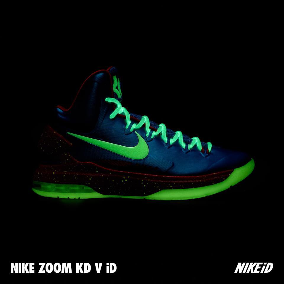 best loved f1a3a 24b50 Nike KD V (5) iD  Glow-In-The-Dark
