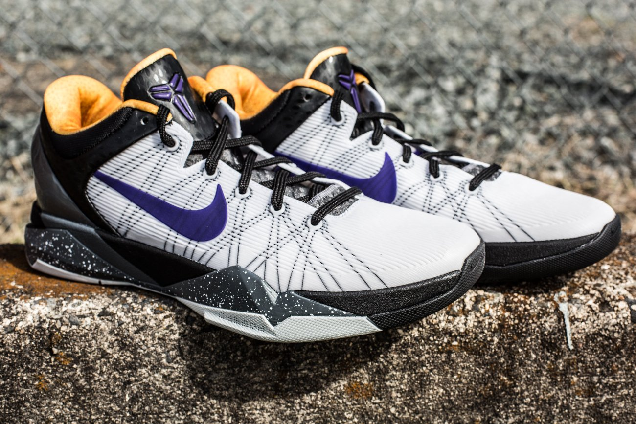 23fa233b2f8e Nike Kobe VII (7)  White Court Purple-Black-University Gold  at Social  Status