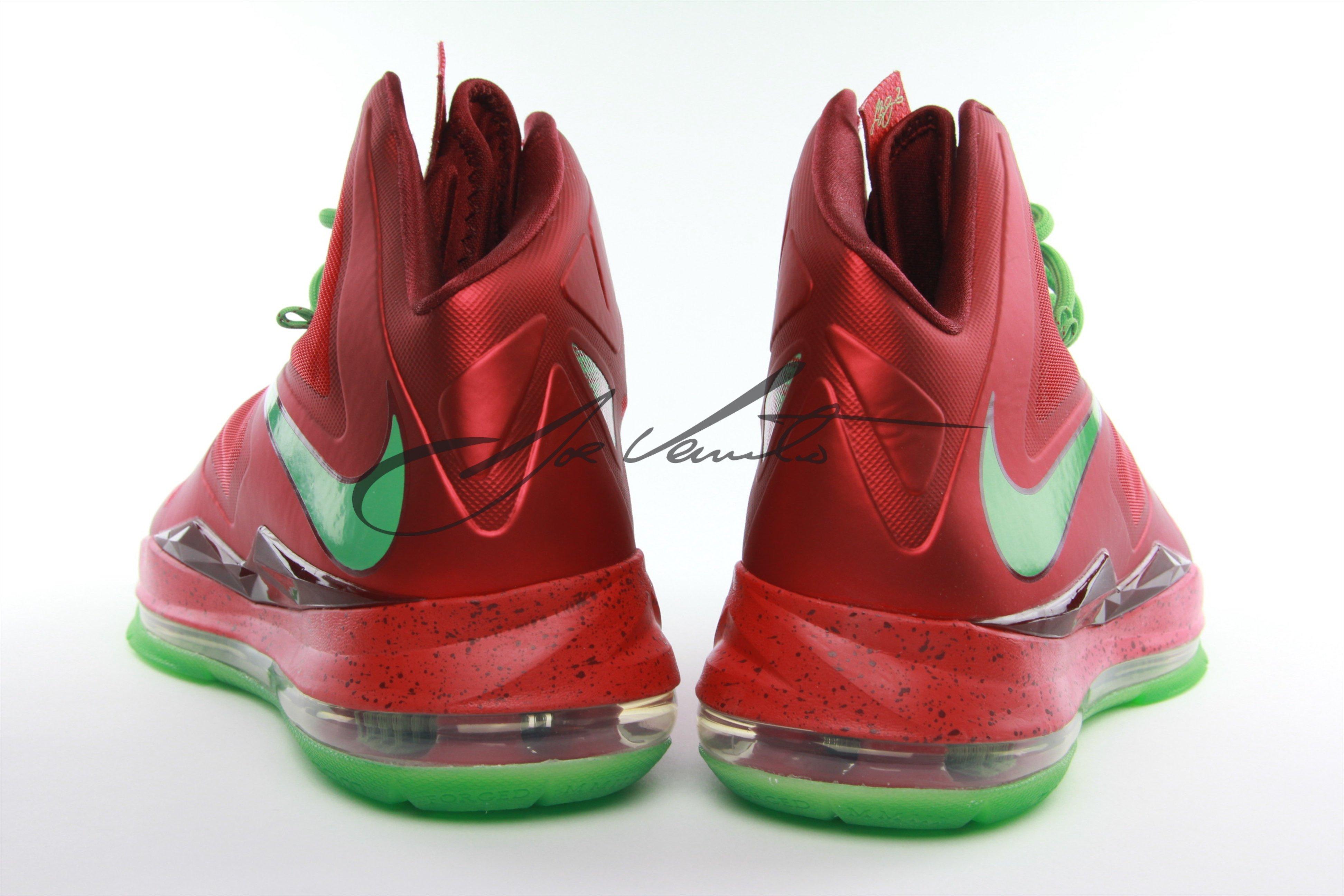 los angeles eeeee aa991 ... Nike LeBron X (10) Christmas – New Images ...